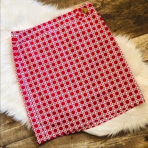 Ann TAYLOR Geometric Circle Print Pencil Skirt